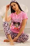 Baskılı Pijama Takımı Pembe - 21639.1059.