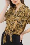 Eteği Bağlamalı Gömlek Siyahvizon - 20005.200.