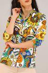Desenli Gömlek Rengarenk - 5087.128. Toptan