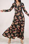 Çiçekli Elbise Çiçeklisiyah - 4987.716.