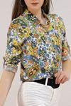 Desenli Gömlek Renklibeyaz - 5087.128. Toptan