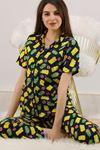 Düğmeli Pijama Takımı Lacisarı - 4782.102. Toptan
