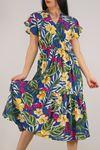 Kruvaze Yaka Elbise Mavisarı - 5372.701.