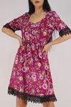 Güpür Garnili Elbise Mor - 5580.701.