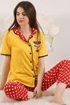 Düğmeli Pijama Takımı Sarı - 4782.102.