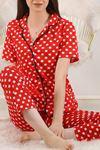 Düğmeli Pijama Takımı Kırmızıpuanlı - 4782.102.